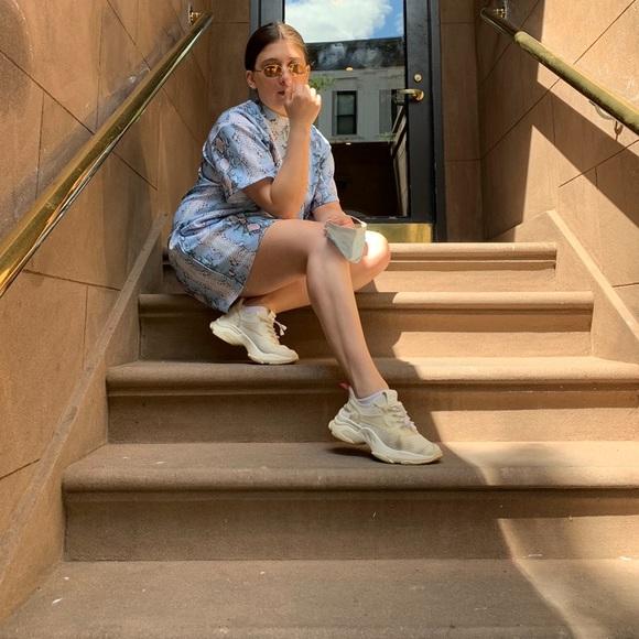 ASOS Dresses & Skirts - ASOS M TShirt Dress Snakeskin Blue Pink White M